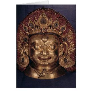 Cartes Tête de Bhairava, fin du 17ème siècle