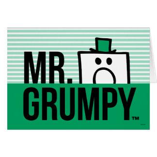 Cartes Tête jetante un coup d'oeil de M. Grumpy |