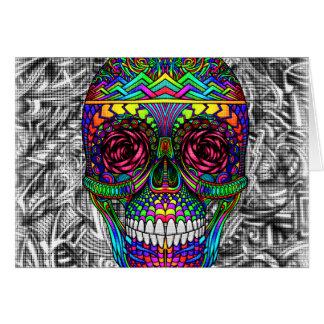 Cartes Tête morte en spirale d'art abstrait de crâne de