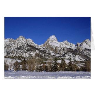 Cartes Tetons grand, hiver de WY