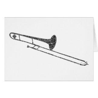 Cartes Texte de noir d'art de mot formé par trombone