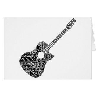 Cartes Texte formé de noir d'art de mot de guitare