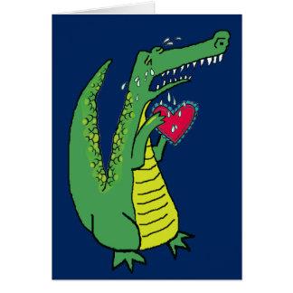 Cartes Texte lunatique navré de coutume d'alligator