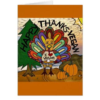 Cartes Thanksgiving végétalien Turquie de mercis heureux