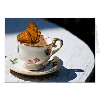 Cartes Thé de papillon