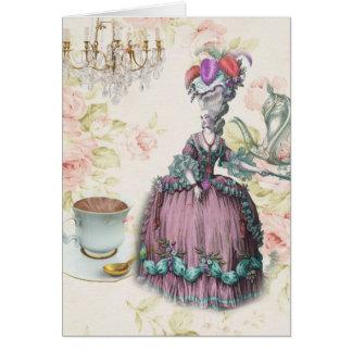 Cartes Thé floral français Marie Antoinette de Paris