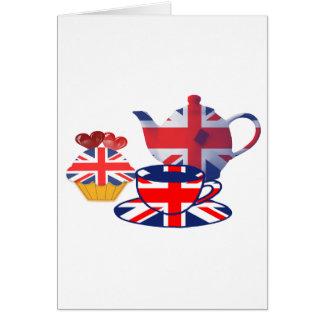 Cartes Thé-temps anglais, cadeaux d'art d'Union Jack