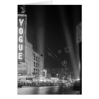 Cartes Théâtre de mode la nuit avec des projecteurs