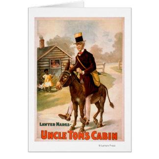 Cartes Théâtre d'homme et d'âne de cabine d'oncle Tom