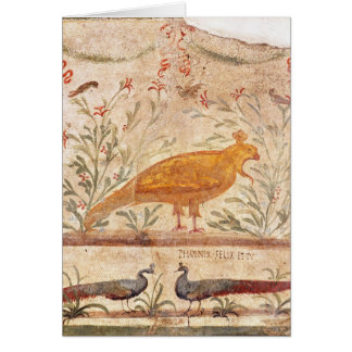 Cartes thermopolium dépeignant Phoenix et inscription