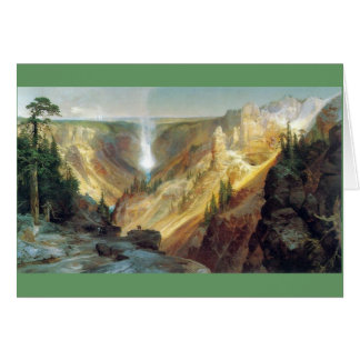 Cartes Thomas Moran - canyon grand du Yellowstone