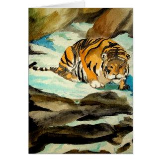 Cartes Tigre d'aquarelle