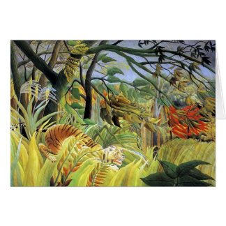 Cartes Tigre de Henri Rousseau- dans une tempête