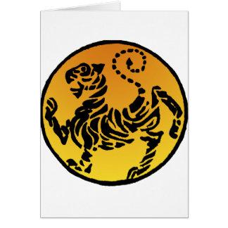 Cartes Tigre de Shotokan - or