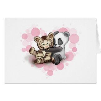 Cartes Tigre et panda