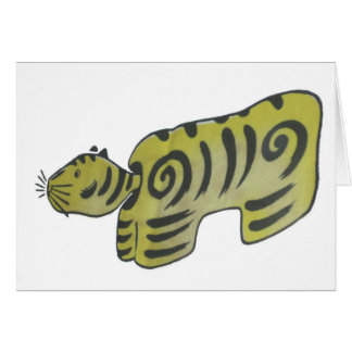 Cartes Tigre japonais d'art populaire