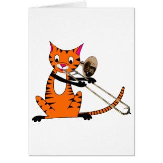 Cartes Tigre jouant le trombone