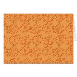 Cartes Tigres oranges