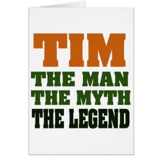 Cartes TIM - l'homme, le mythe, la légende