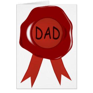 Cartes Timbre de cire de fête des pères