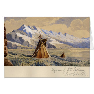 Cartes Tipi des Indiens d'Ute, Salt Lake City