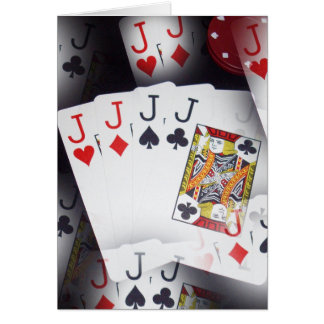 Cartes Tisonnier, _Quad_Jacks, _Small_Note_Greeting_Card.