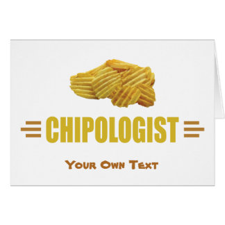 Cartes Titre drôle pour un amant de pommes chips