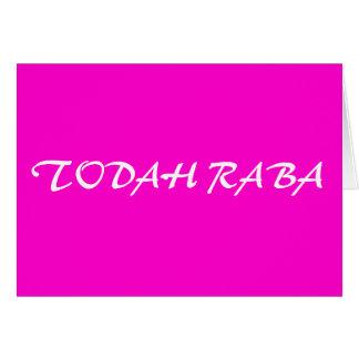 Cartes Todah Raba