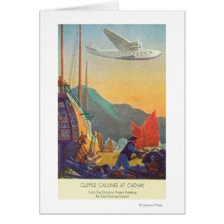 Cartes Tondeuse Casserole-Américaine volant au-dessus de