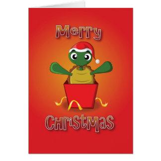 Cartes tortue - boîte - Joyeux Noël