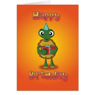 Cartes tortue - présent - joyeux anniversaire