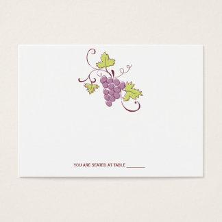 Cartes toscanes d'endroit de mariage de vignoble
