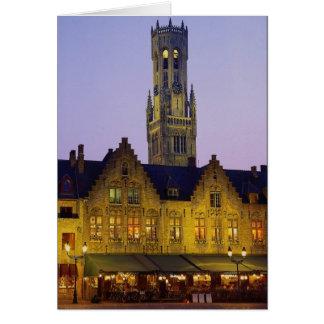 Cartes Tour de carré et de beffroi de Burg, Bruges,