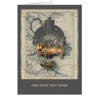 Cartes Tour de dirigeable de Steampunk personnalisé