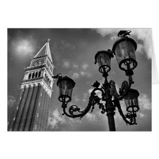 Cartes Tour de Venise San Marco et réverbères