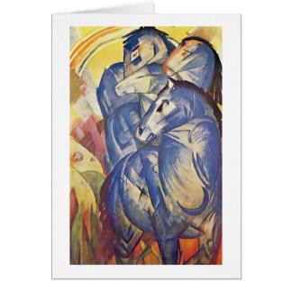 Cartes Tour des chevaux bleus par Franz Marc