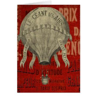 Cartes Tour vintage de ballon d'air chaud de Steampunk