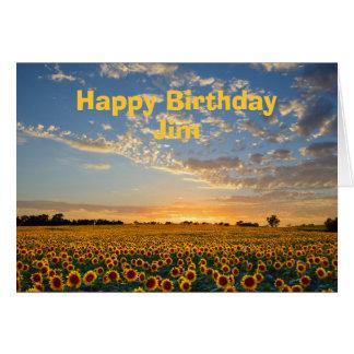 Cartes Tournesols de joyeux anniversaire de JIM au