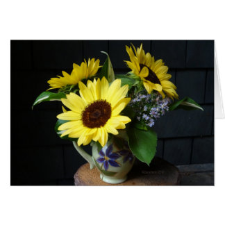 Cartes Tournesols et asters