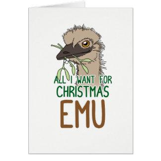 Cartes Tous que je veux pour l'émeu de Noël