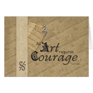 Cartes Tout l'art exige le courage
