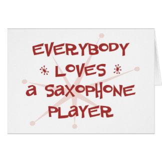 Cartes Tout le monde aime un joueur de saxophone