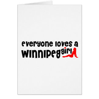Cartes Tout le monde aime une fille de Winnipeg