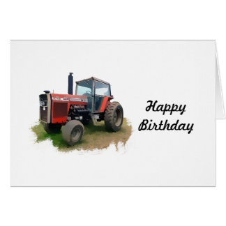 Cartes Tracteur rouge de Massey Ferguson dans le domaine
