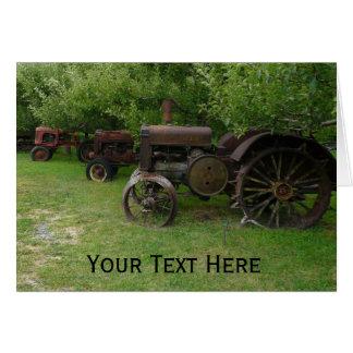 Cartes Tracteurs antiques de roue en métal