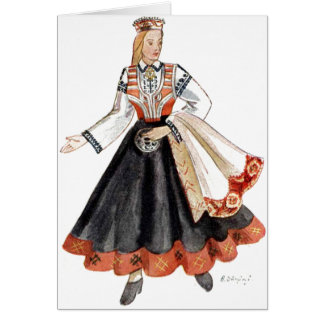 Cartes traditionnelles lettons de costume