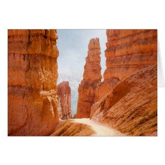 Cartes Traînée de parc national de canyon de Bryce