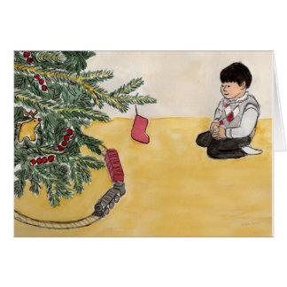 Cartes Trains de Noël
