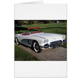 Cartes Transport 077, voitures classiques, corvette, un