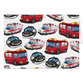 Cartes Transport de pompiers de police, d'ambulance et